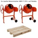2x LESCHA Betonmischer ABM P 135 L auf Palette ***NEU*** - 1